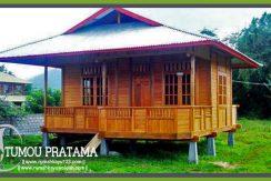 Rumah Kayu satu kamar untuk cottage bungalow