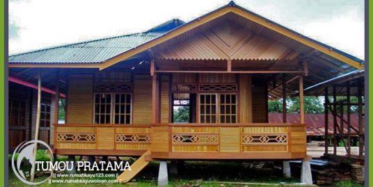 Rumah Kayu 36 m2 (6 x 6)