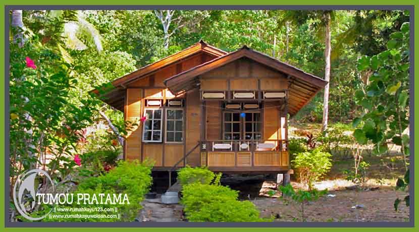 Rumah Kayu Ukuran  X 6 Desain Minimalis Tipe 1