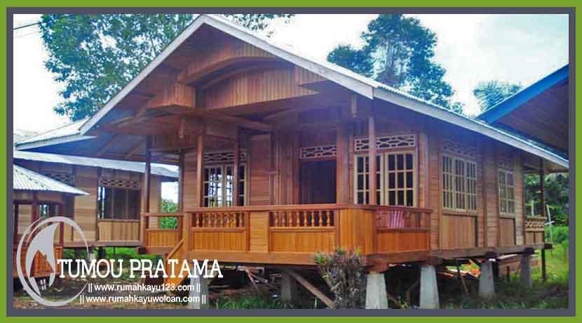 Rumah  Kayu Tipe 70 Tumou Pratama rumahkayuwoloan com