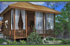 Rumah Kayu Bungalow Minimalis