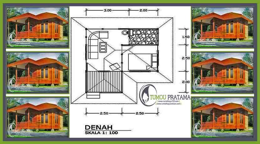 Denah Cottage Rumah Kayu