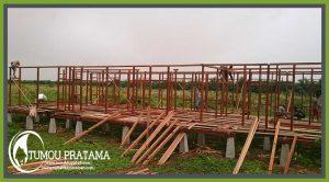 Rangka Rumah Kayu di Kalimantan