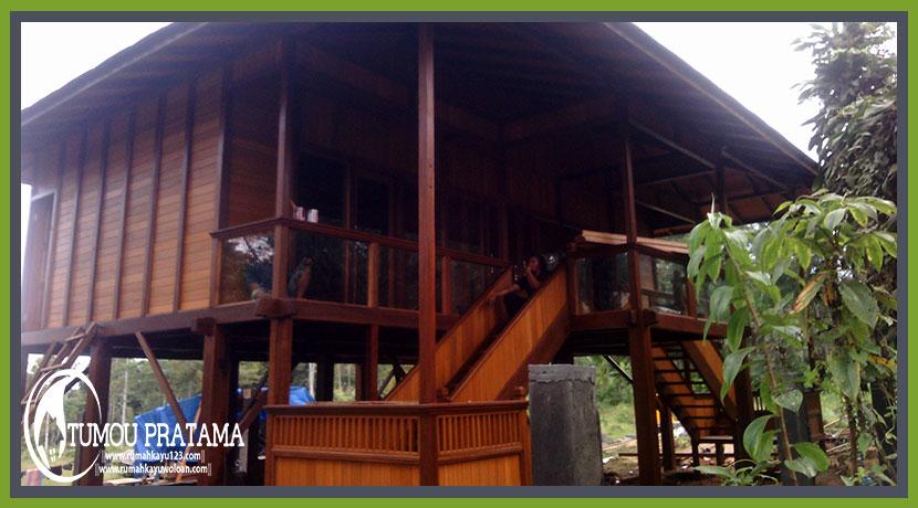 Rumah Kayu di Bali Jatiluwih