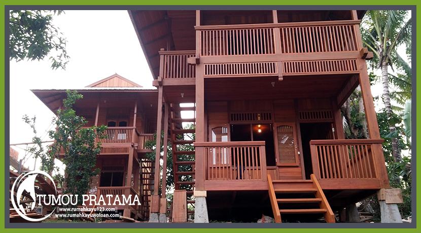 Rumah Kayu 48 M2 2 Lantai Rumah Kayu Manado Di Bunaken