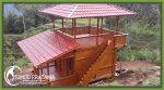 Rumah Kayu di Puncak Lolai To'Tombi Toraja