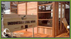 rumah kayu woloan mengikuti pameran jakarta international expo