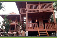 Rumah Kayu model bungalow di Bunaken