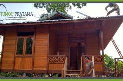 Rumah Kayu Minimalis tipe 2 kamar di Sorowako